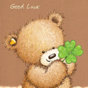 Good Luck Bear With Four Leaf Clover